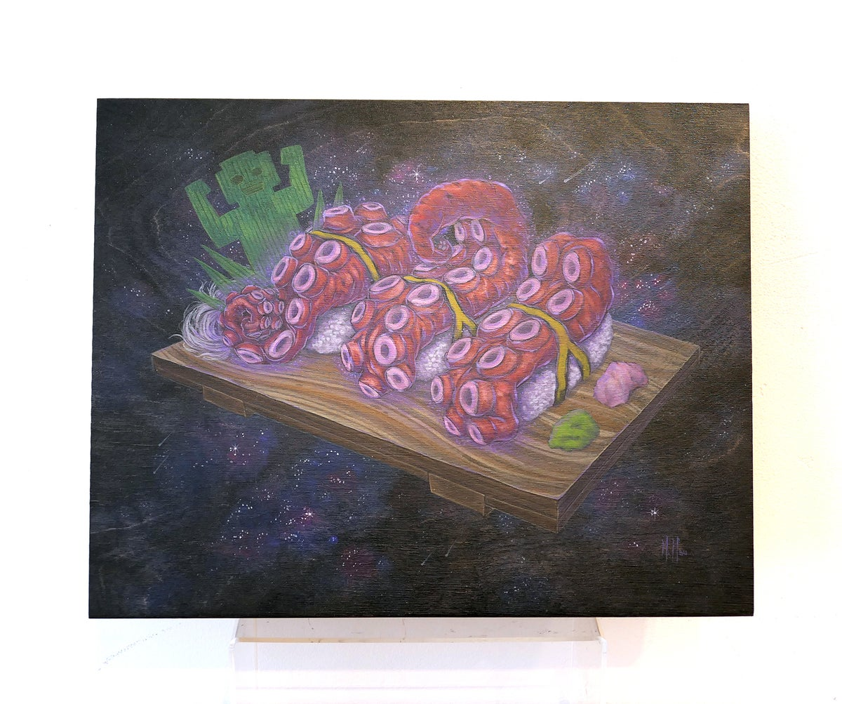 Intergalactic Kaiju Sushi Original Painting | SDCC 2020 Exclusive