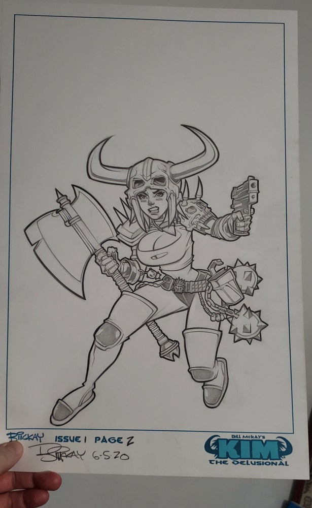 Image of Kim the Delusional Production Piece/Character Design Original Art
