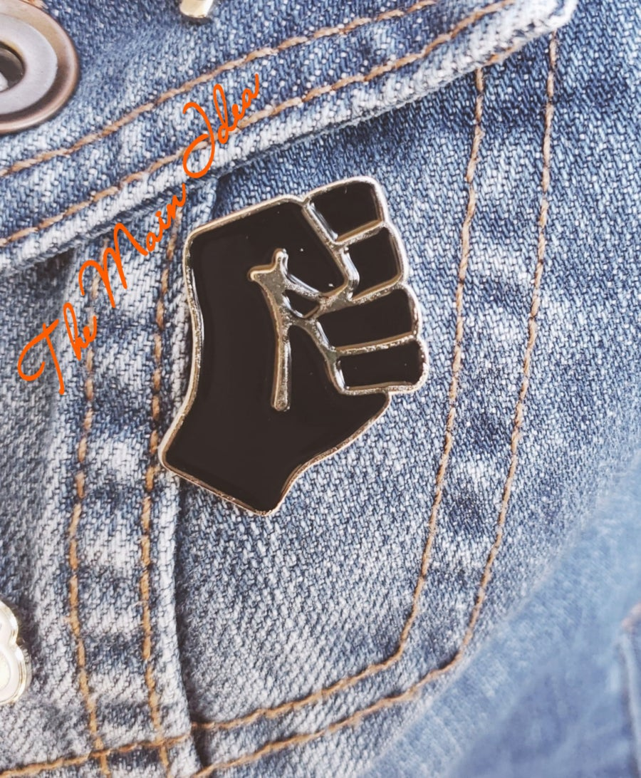 Image of Black Power Fist Button