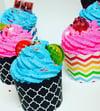 Bath Luna Cupcake- Strawberry Creme Puff