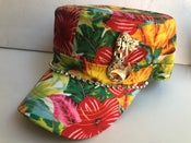 Image of Yellow Floral Cadet Hat Mermaid