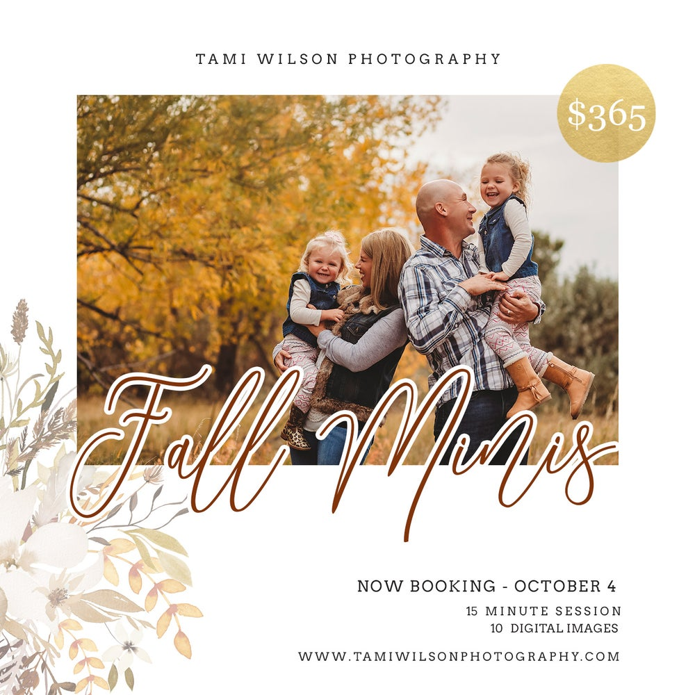 Image of FALL Mini Sessions - October 4, 2020