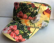 Image of Sunflower Yellow Floral Hawaiian Cadet Hat Anchor