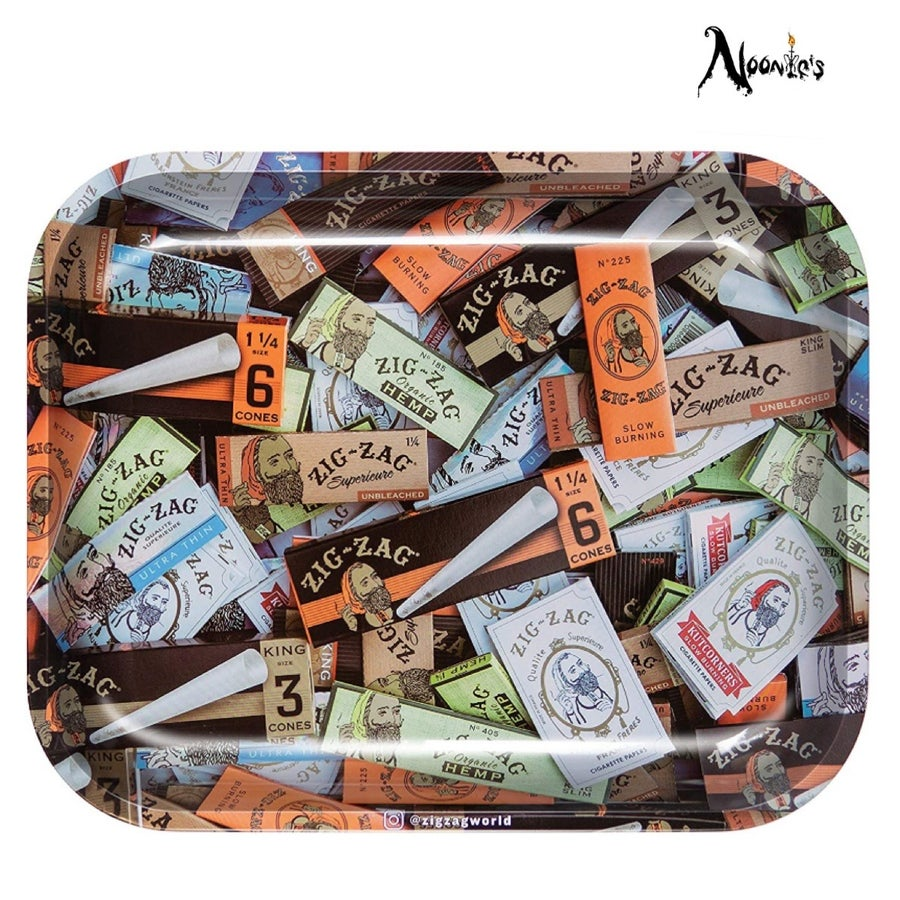Image of Large zig zag rolling papers rolling tray