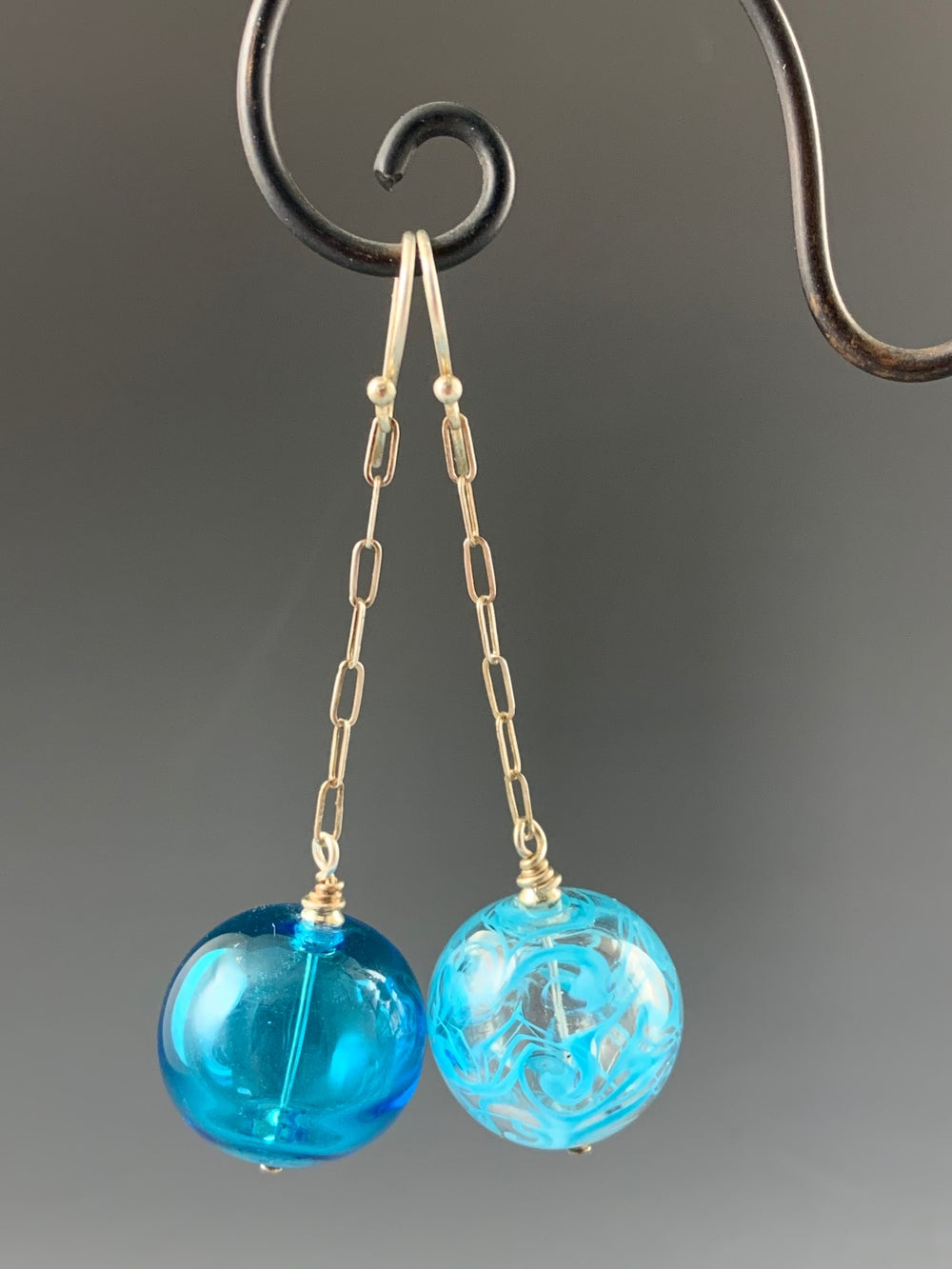 Image of Artisan Glass • Blown Hollow Aqua