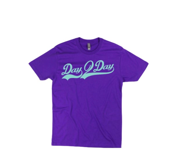 Purple/Teal Signature Logo Tee