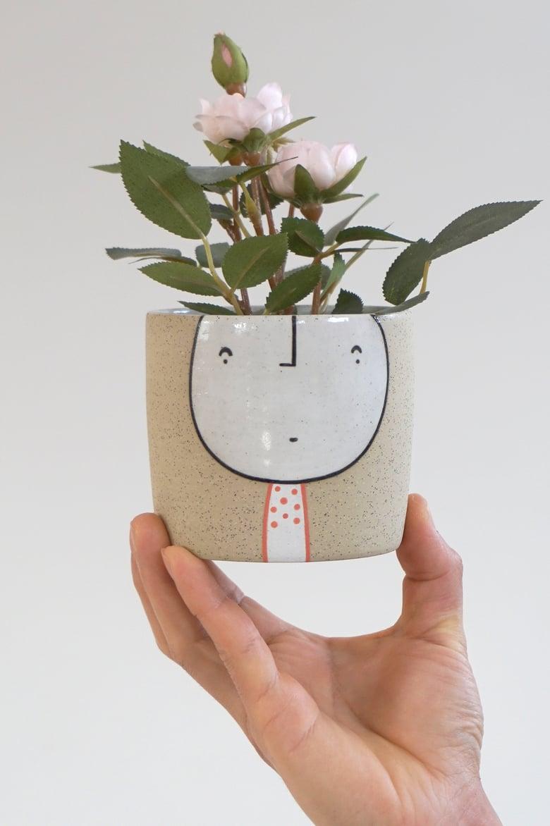 Image of Zing – Standing Guy Planter – ceramic pot