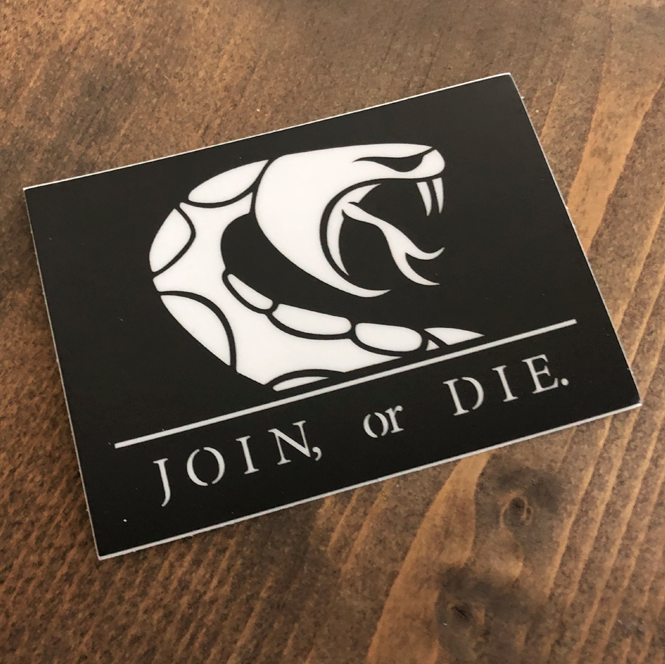 Image of JOIN OR DIE // STICKER