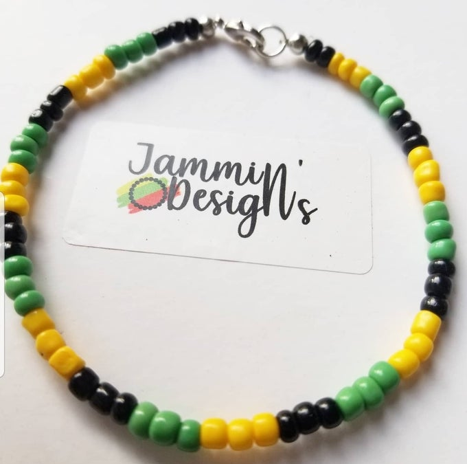 Image of Jamaica Flag Ankle Bracelet