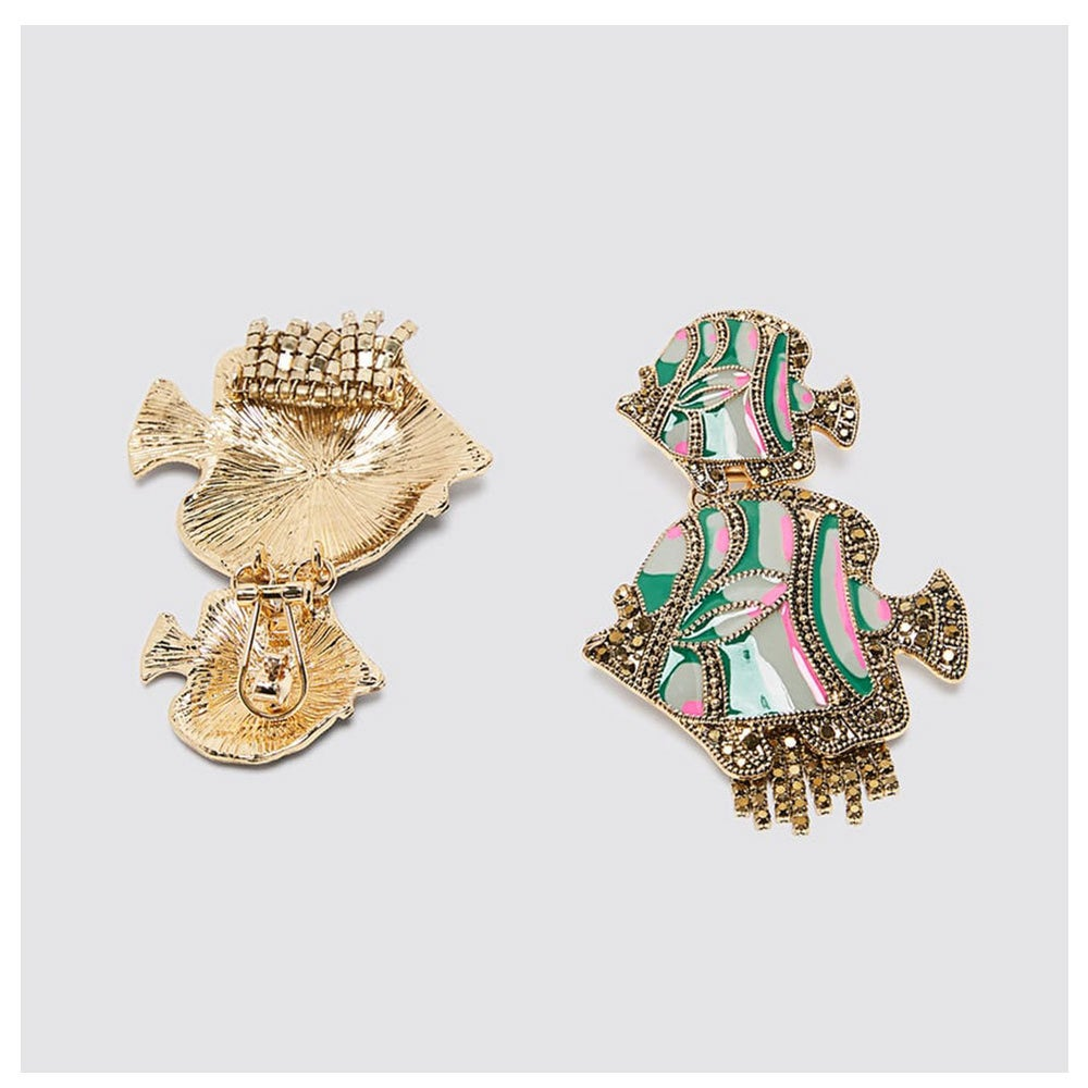 Image of Exaggerated Fish Earrings