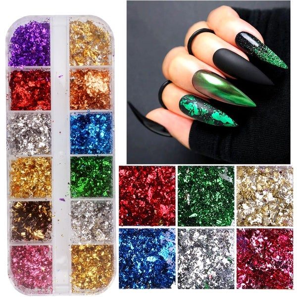 Image of 12 pack color foil flakes
