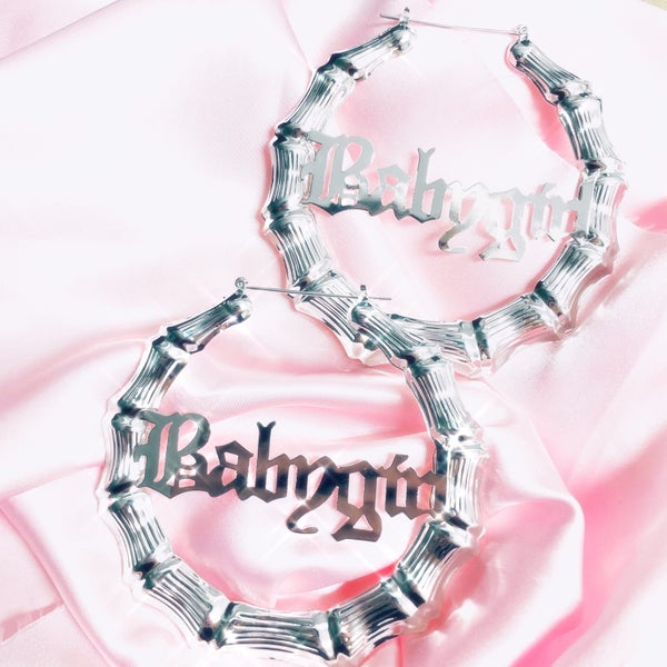 Image of Babygirl XL Earrings SILVER