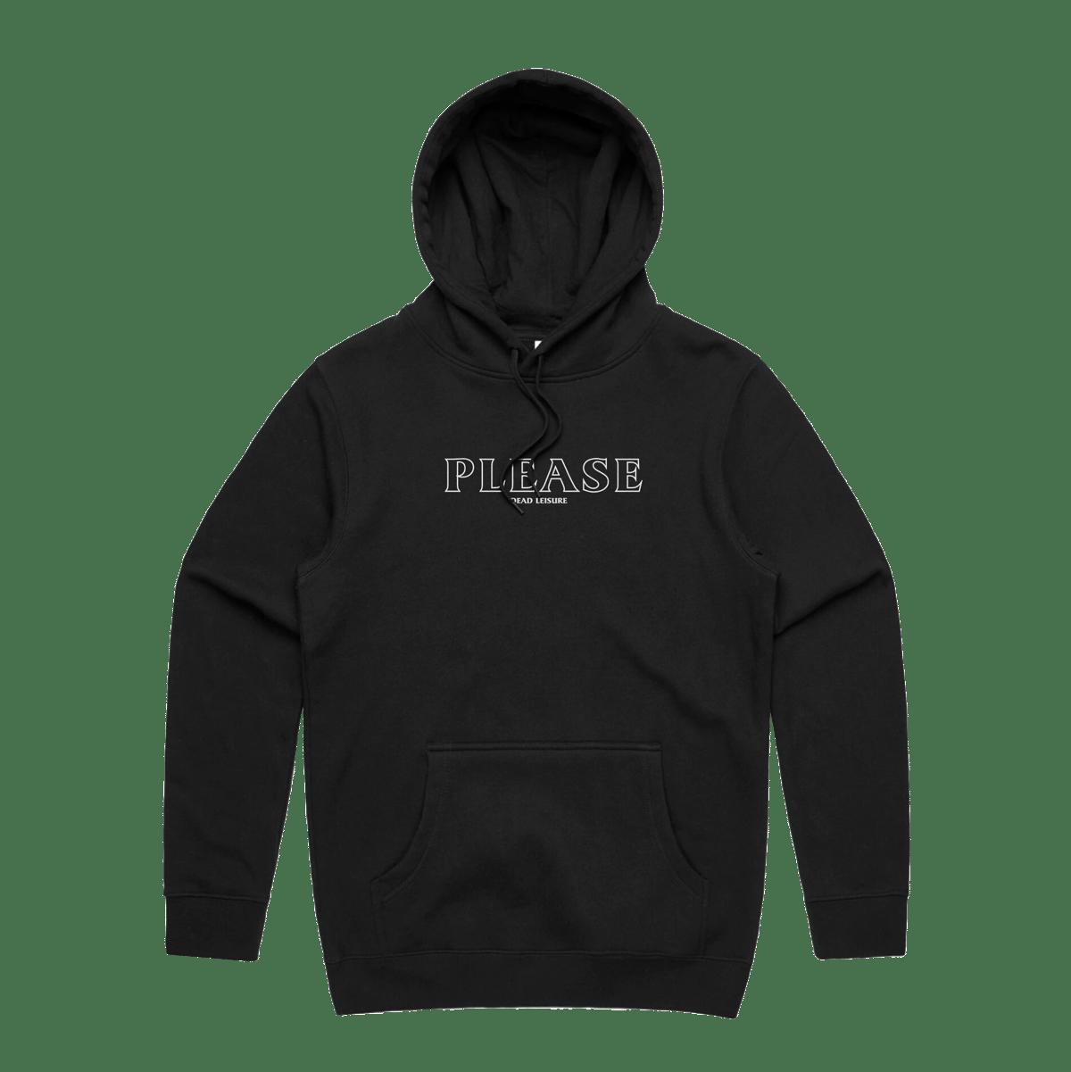 Please logo Hoodie - Black