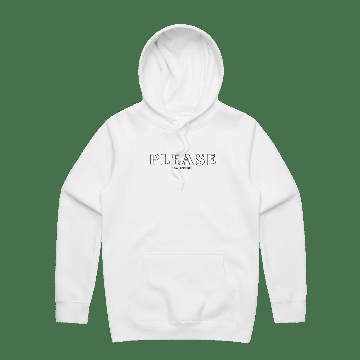 Please logo Hoodie - White