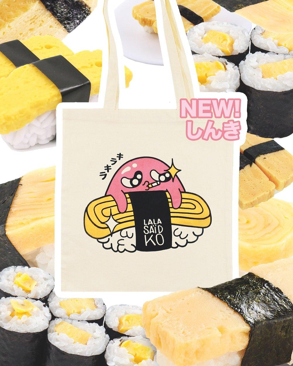 Bubble sushi tote bag