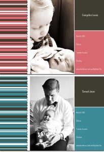 Image of CHIC STRIPES Baby Announcement
