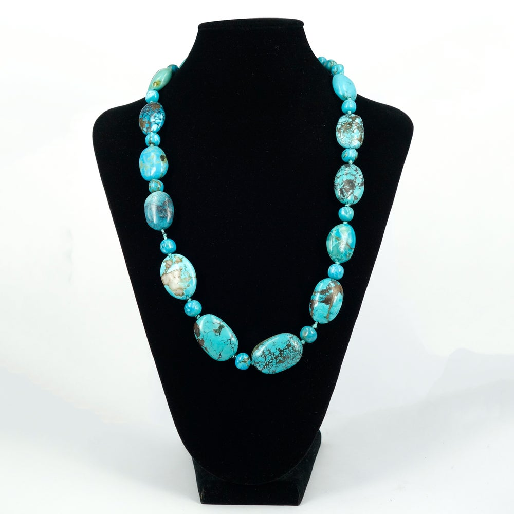 Image of Turquoise beaded necklace - M2486
