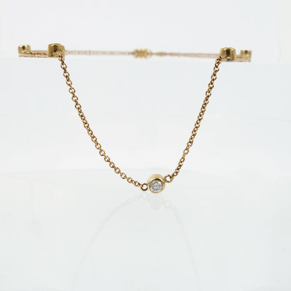 Image of 9ct yellow gold diamond necklet