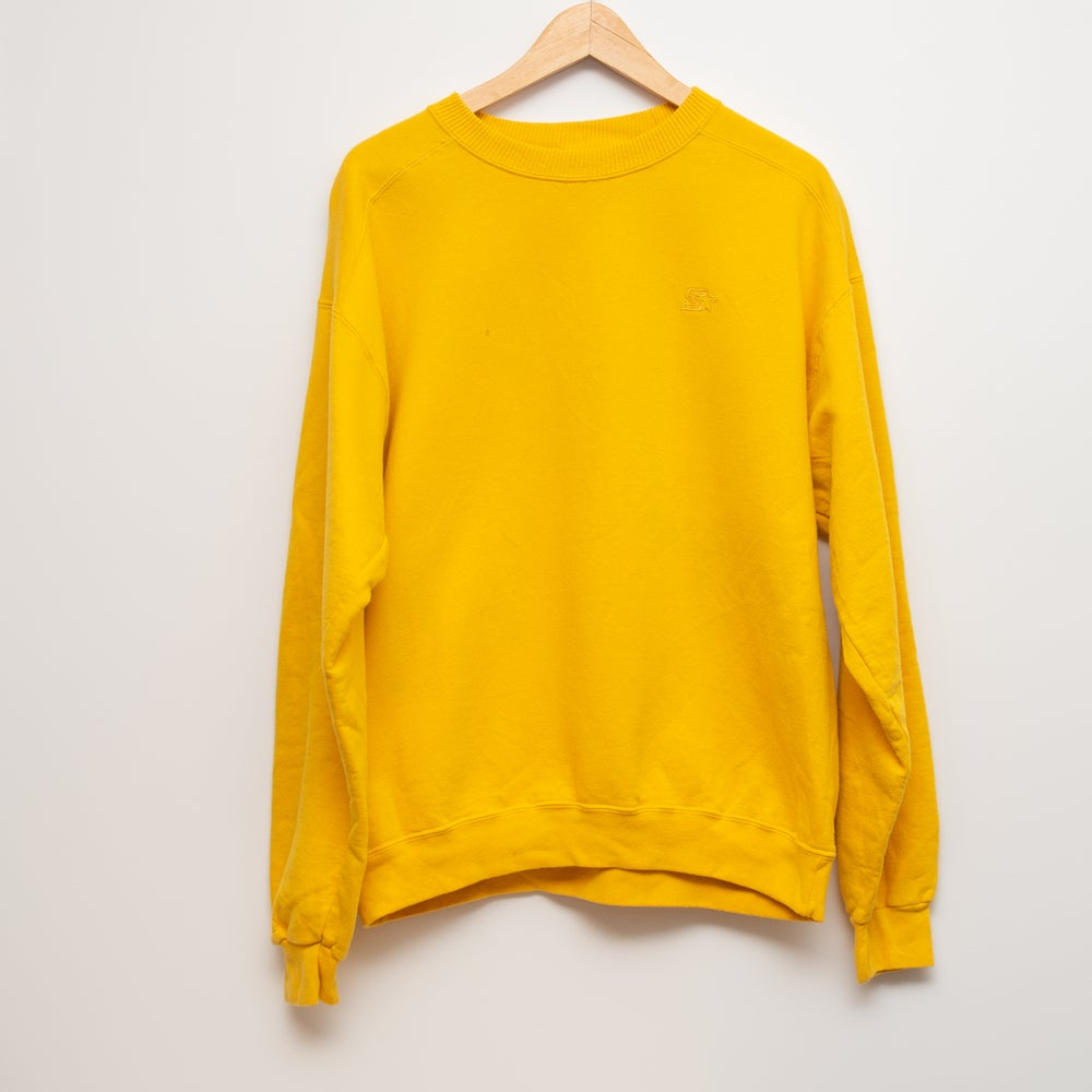 Image of Starter Crewneck Yellow Size Medium