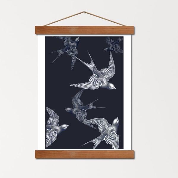 Image of Affiche A4 - La danse des Hirondelles