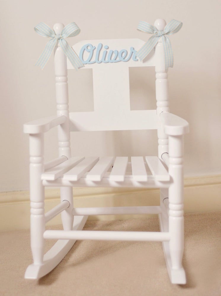 Image of Boys Personalised Rocking Chair *** 2021 DELIVERY ONLY ***