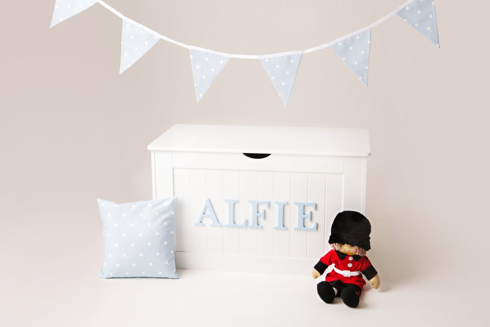 Image of Boys Personalised Chest - Wooden Top ***DELIVERY AFTER 1st OCTOBER***