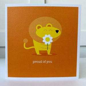 Image of Proud of You Lion Card
