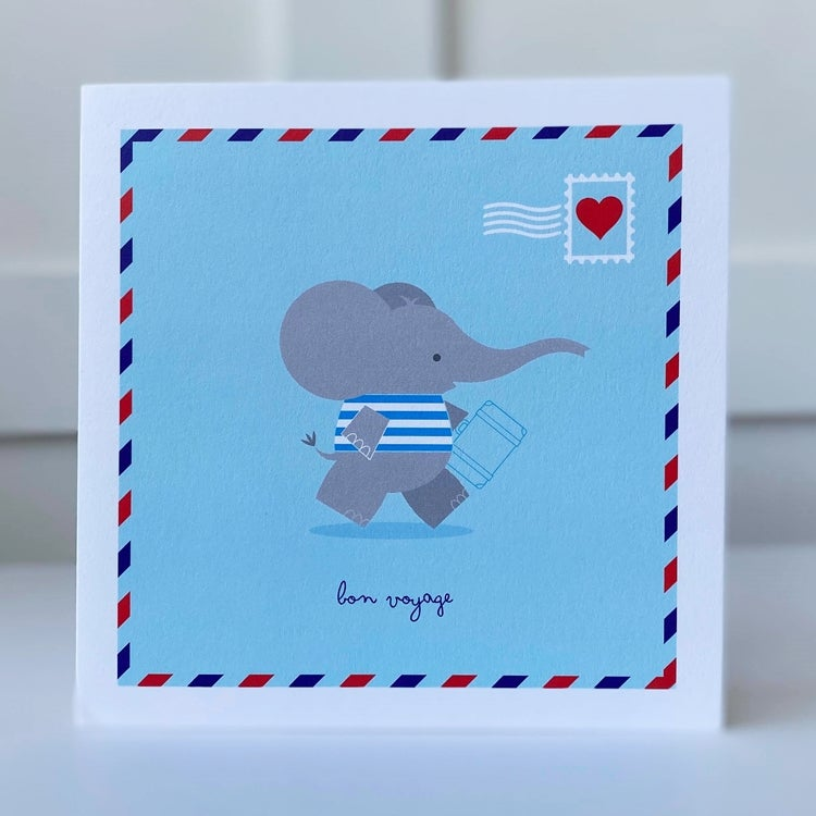 Image of Bon Vogage Elephant Card