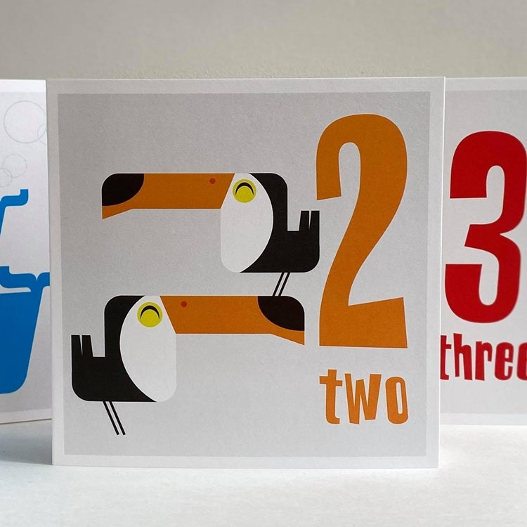 Image of Numbered Animal Birthday Cards