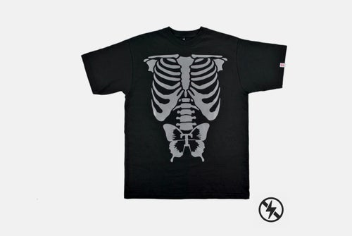 Image of REFLECTIVE SKELETON TEE