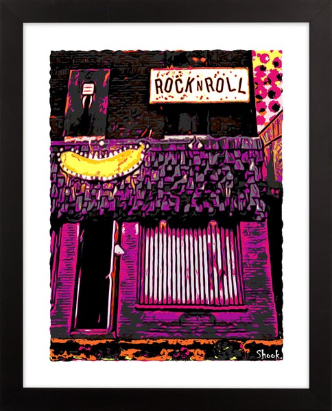"Image of Electric Banana Pittsburgh Giclée Art Print - 11"" x 14"""