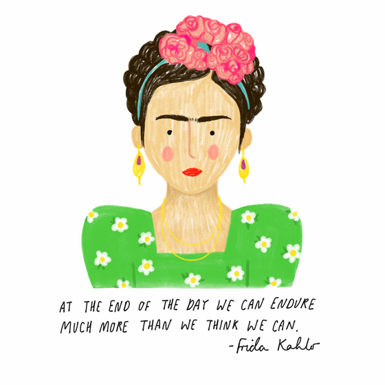 Image of Frida Kahlo Quote Mini Print