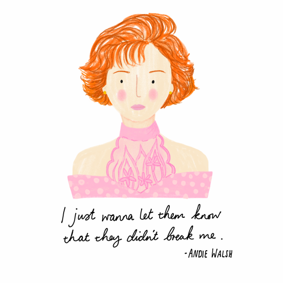 Image of Pretty In Pink Andie A5 Illustrated Mini Print