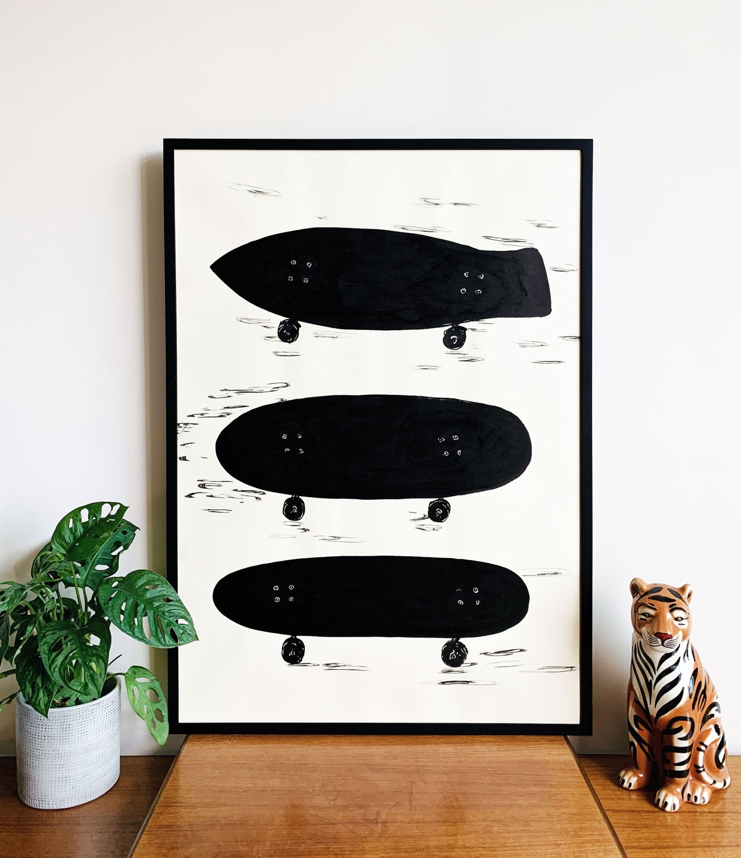 Skateboard shapes #2 (A1) original painting