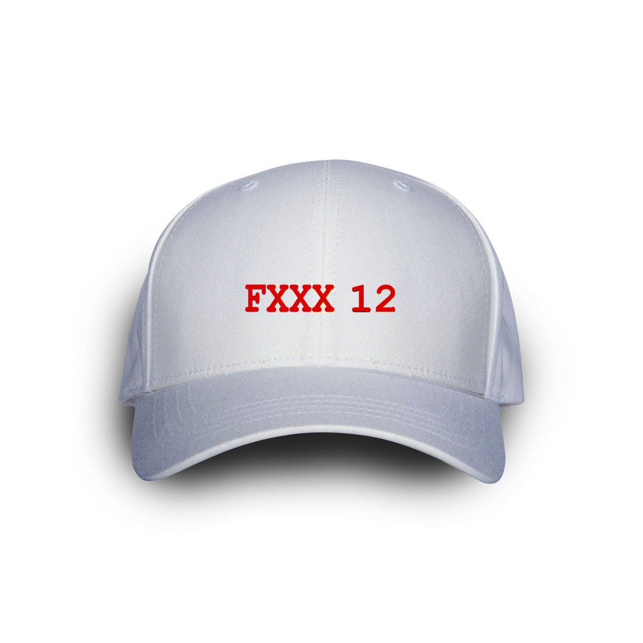 Image of Fxxx 12 Dad Cap White with Red