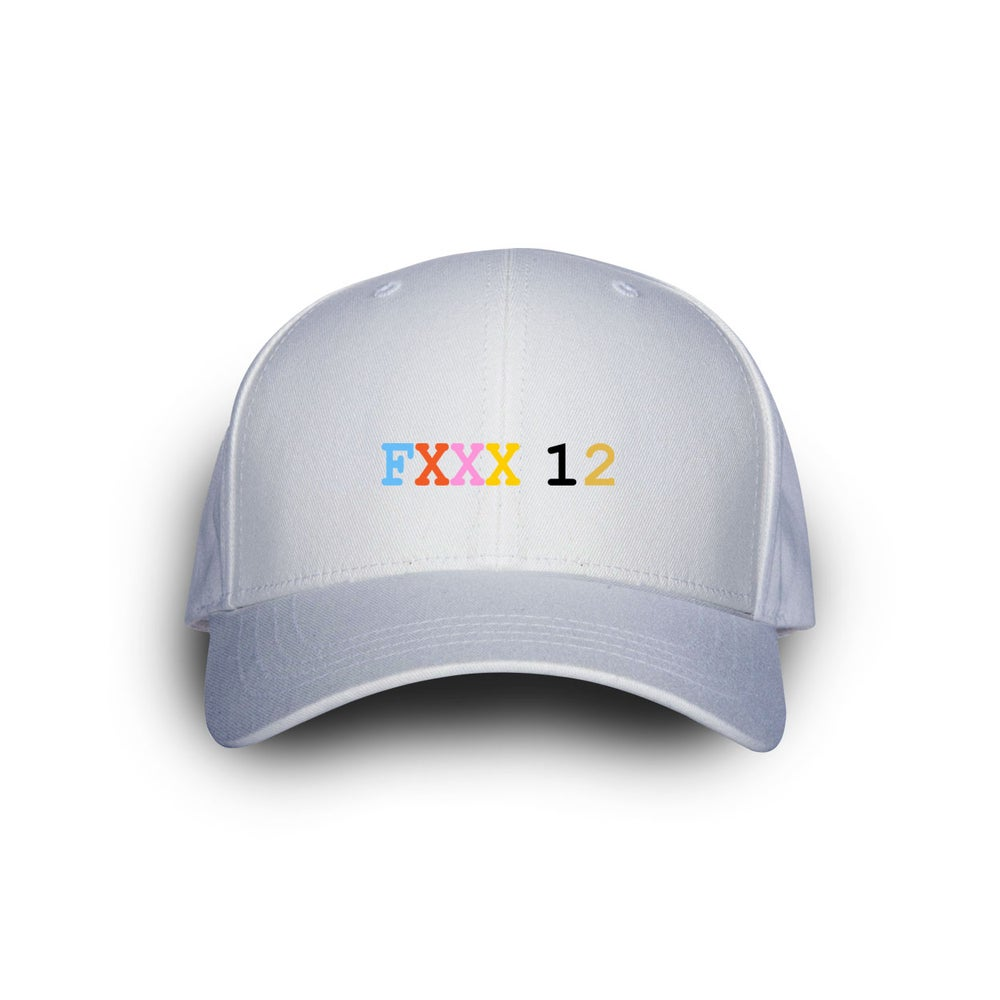 Image of Fxxx 12 Dad Cap White w Colors.