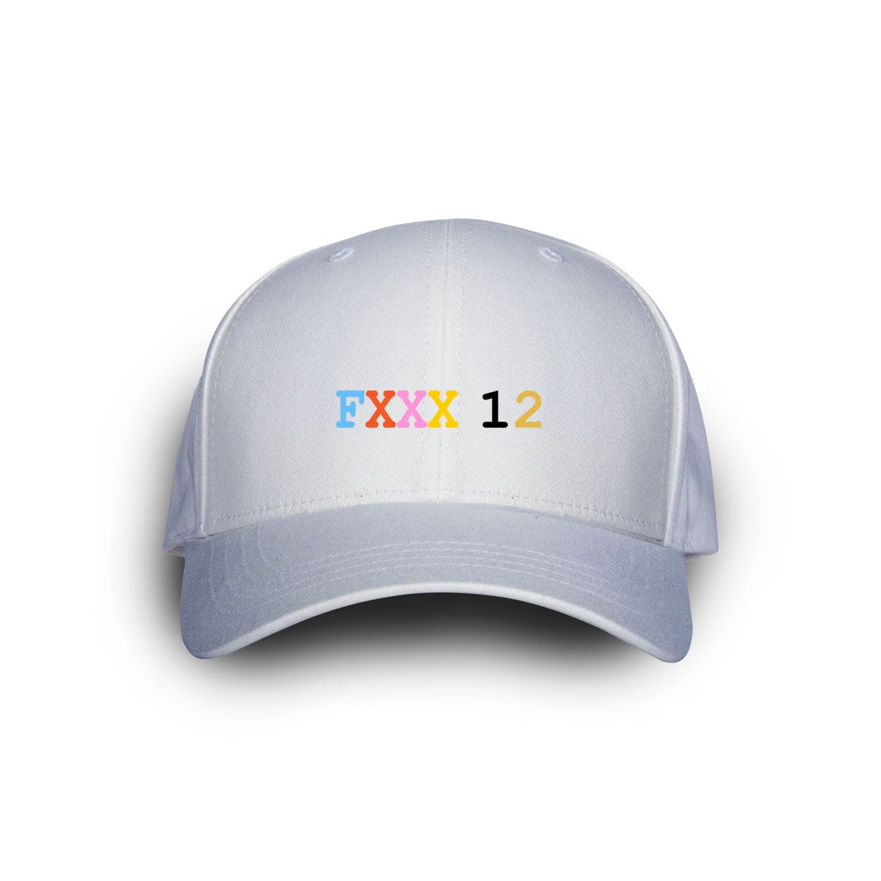 Image of Fxxx 12 Dad Cap White w Colors.
