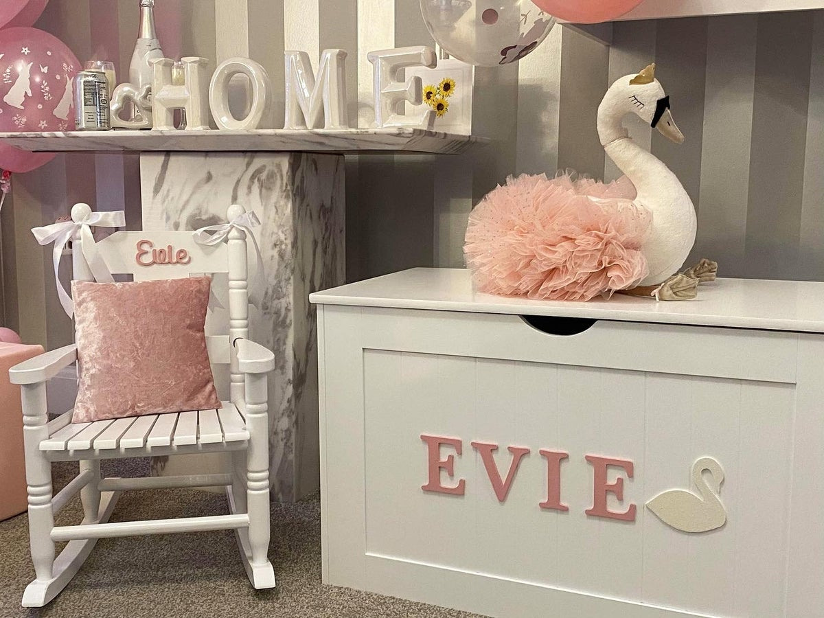 Image of Girls Personalised Rocking Chair