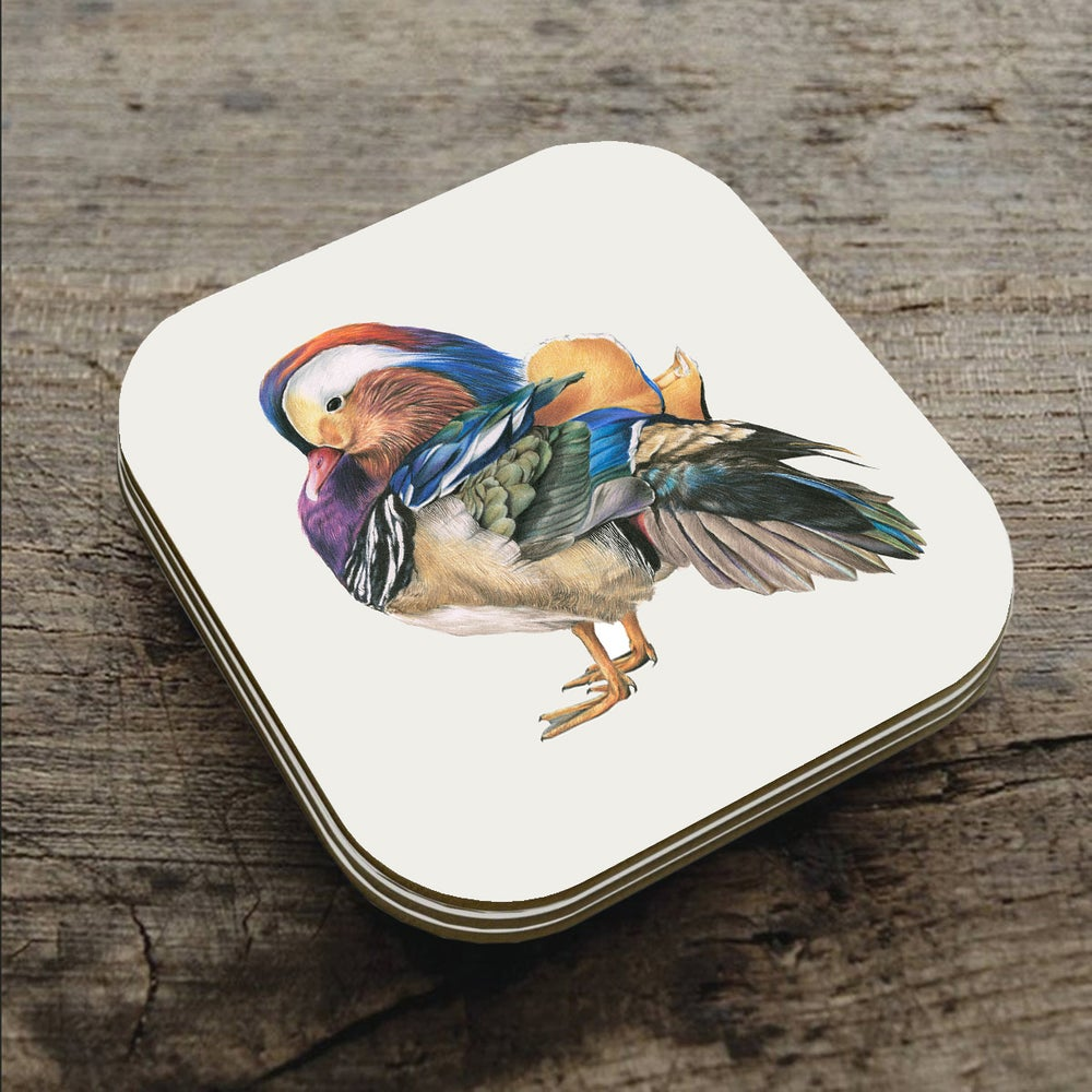 Image of 'Mandarin duck' Coaster
