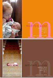 Image of MODERN MONOGRAM Baby Announcements