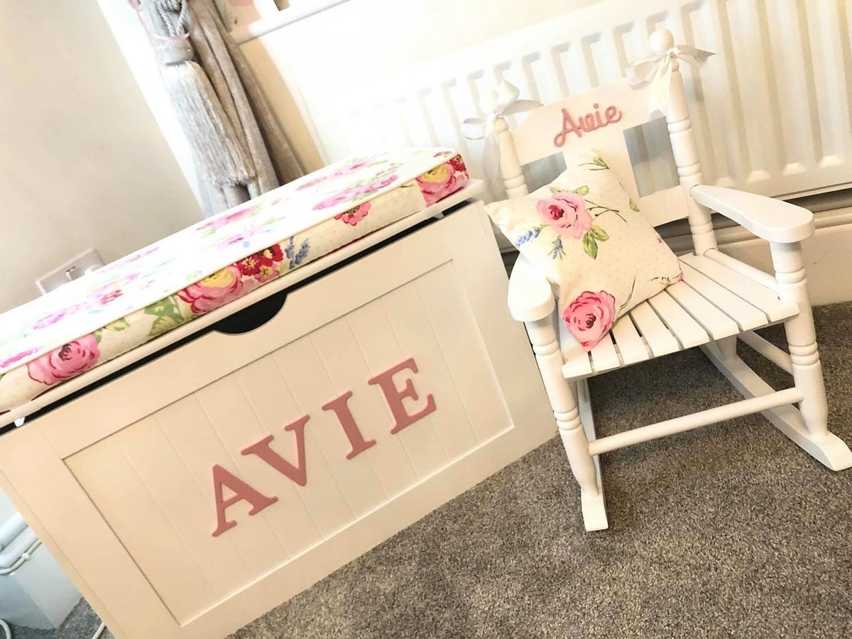 Image of Personalised Chest - Cushion Top - English Rose