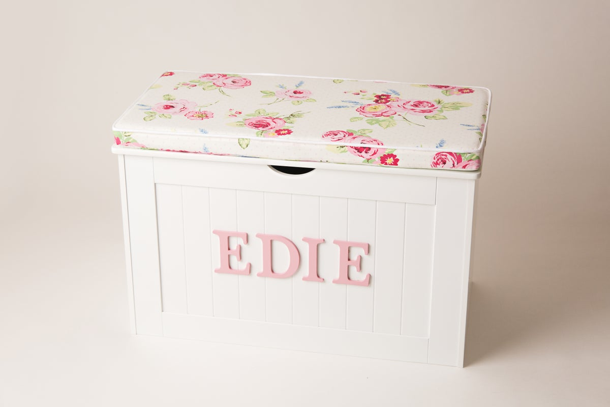 Image of Personalised Chest - Cushion Top - English Rose ***DELIVERY AFYER 1st AUGUST***