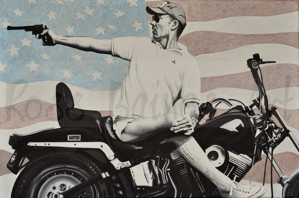 Image of 'HUNTER'  **SPECIAL EDITION XL CANVAS (48 x 32 inches)**
