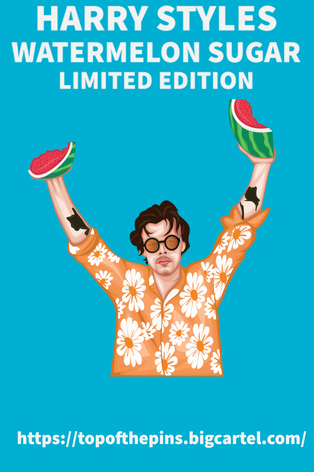 Harry Styles - Watermelon Sugar Limited Edition Pin Badge