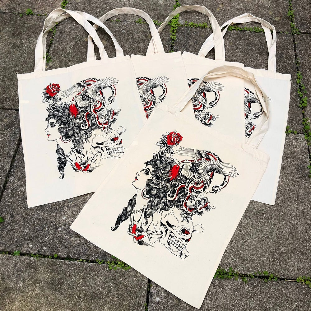 Image of Tat flash canvas tote bag