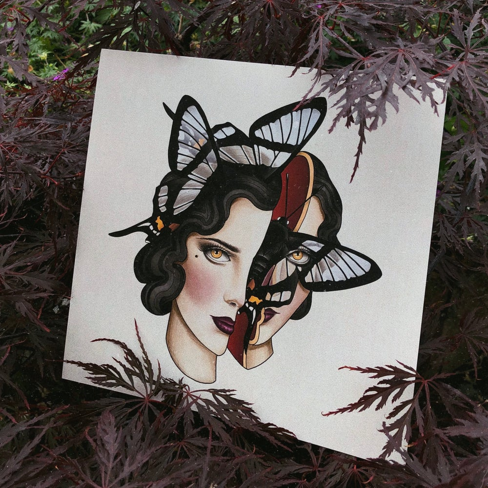 Image of Butterfly Lady Print
