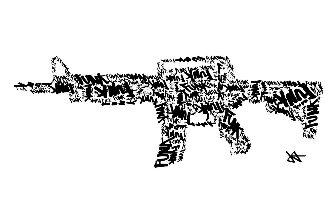 Image of Machine Gun Funk Print