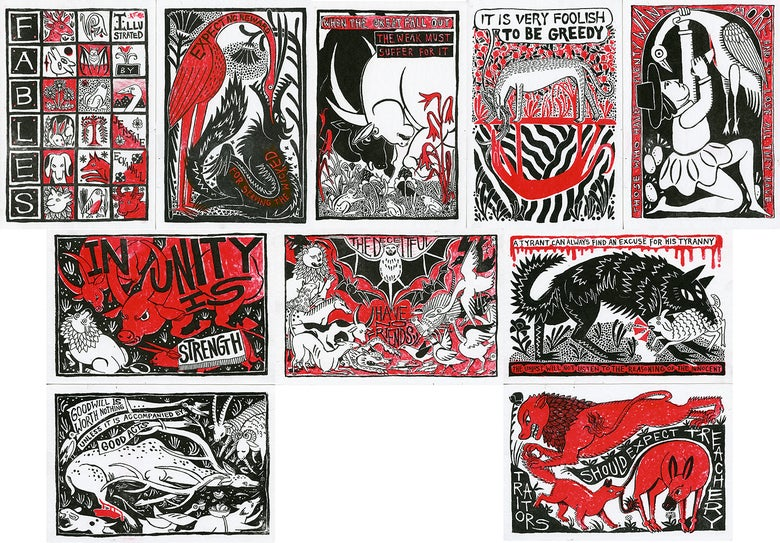 """Image of """"Fables"""" Print Set"""