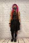 Midi Lace Black Stripes Dress
