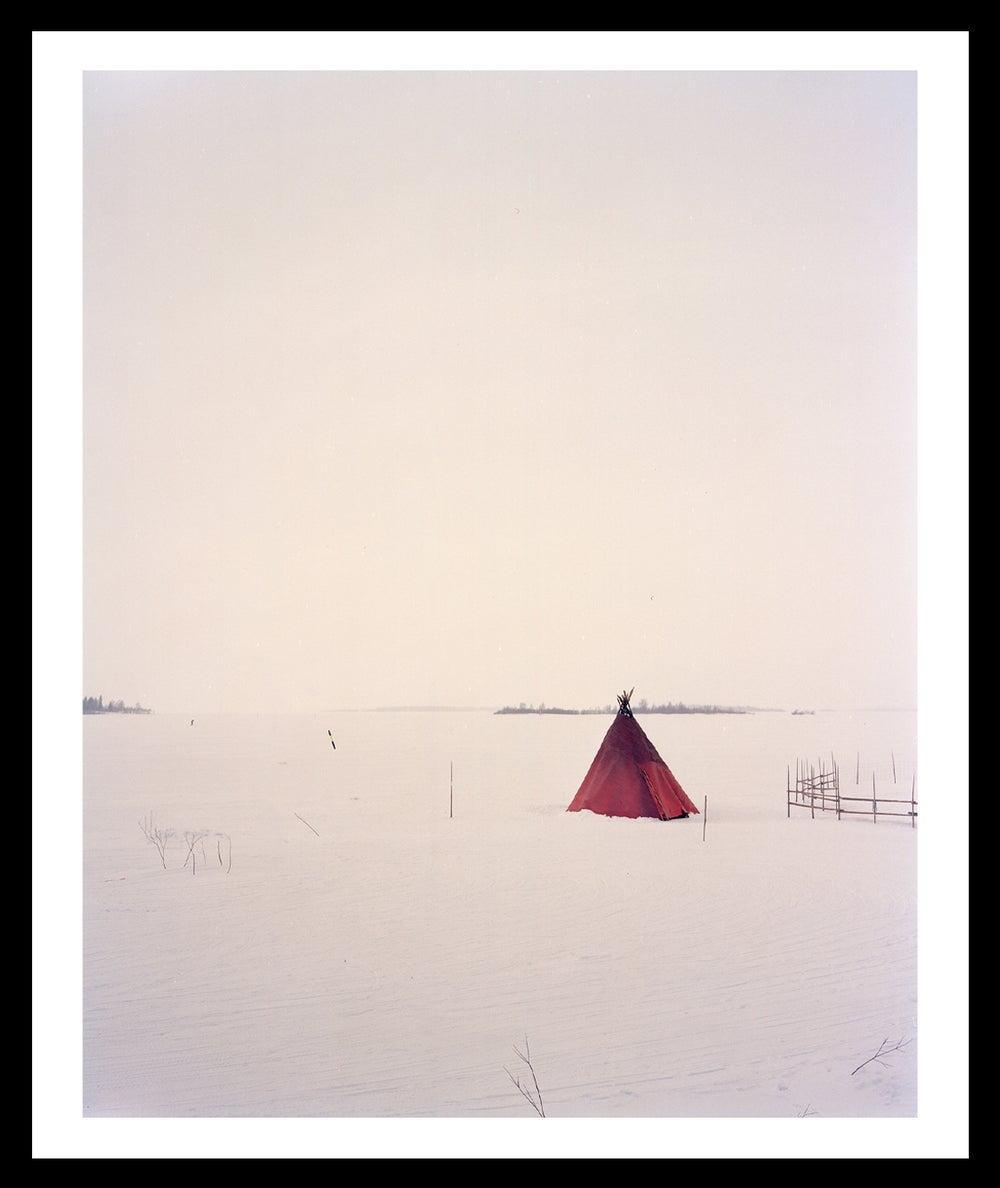 Image of Red Teepee. Finnish Lapland. 2004